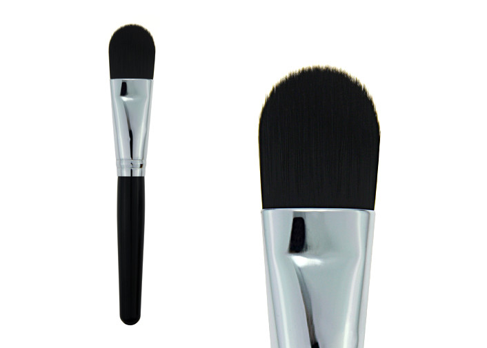 Girls Cosmetic Brush Black Synthetic Concealer Brush 133mm Wooden Handle