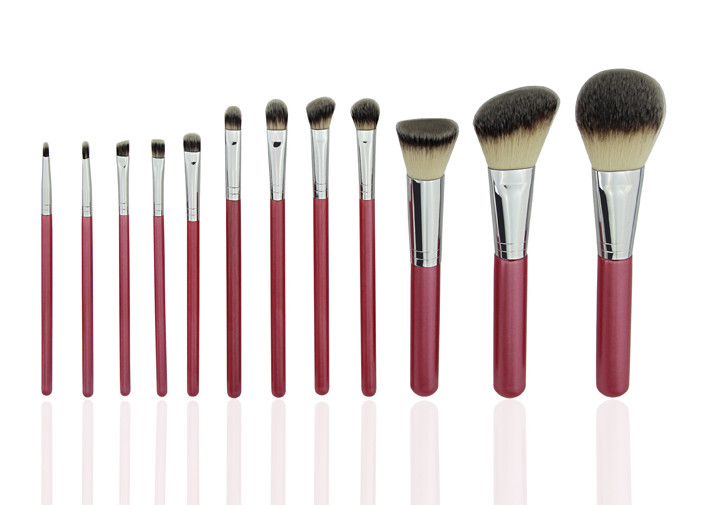 195g Nouveau Professional Makeup Brush Set Grey Flat Nylon Brush