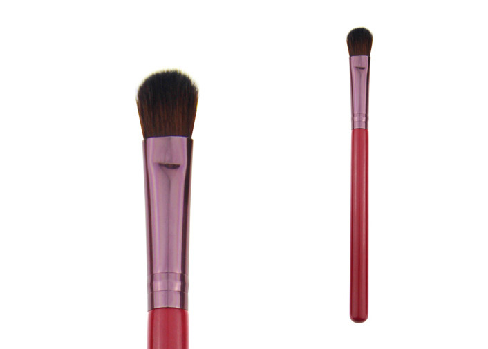 Red Wool Hair Makeup Eyeshadow Blending Brush 6g Opp Polybag Package