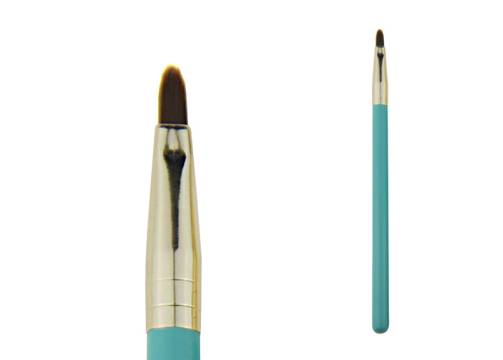 Long Handle Golden Ferrule Blue Long Lasting Lip Liner Used With Lipsticks