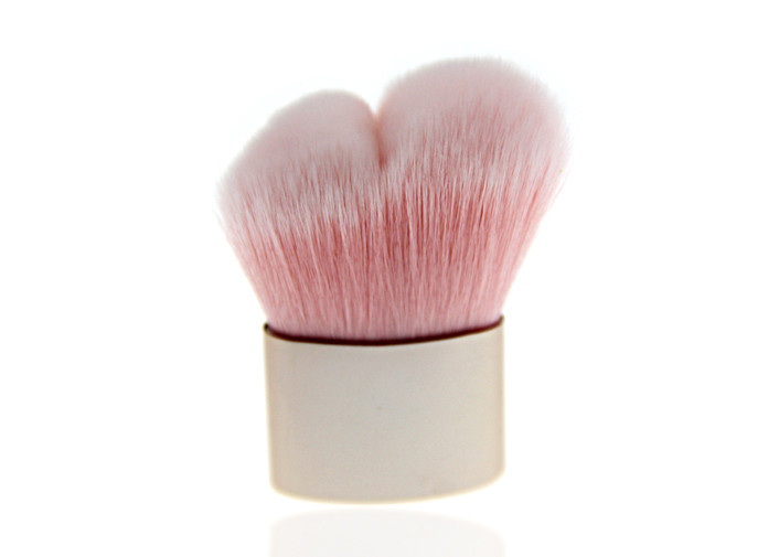 Professional Heart Shape Small Retractable Kabuki Brush Makeup Facial Cosmetics