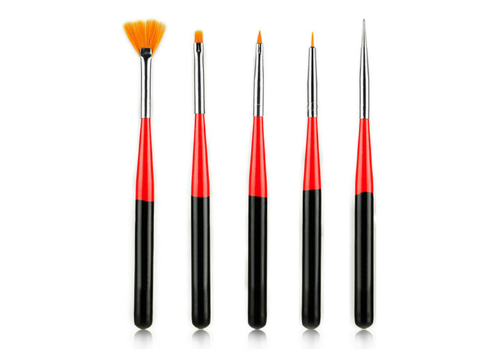 Emily Short Nylon Hair Nail Art Brushes And Tools With Wooden Handle